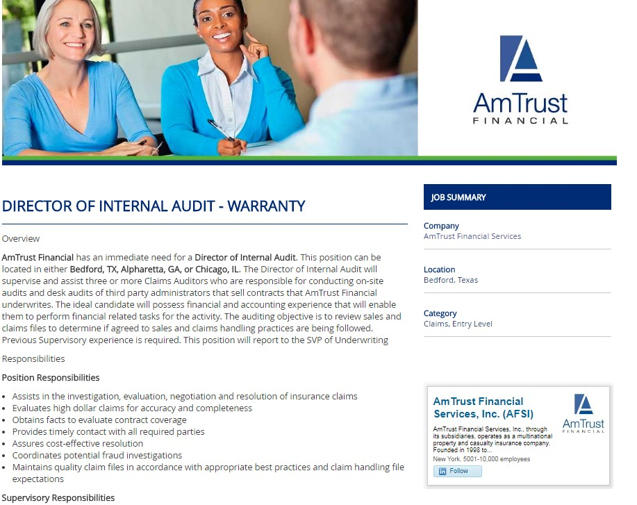 Amtrust Branded Job Template