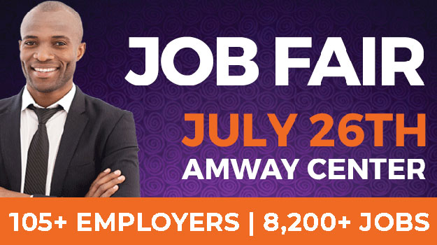 OrlandoJobs.com Huge Job Fair at the Amway Center in Central Florida on Friday, July 26, 2019!